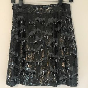 French Connection Sequin Mini Skirt